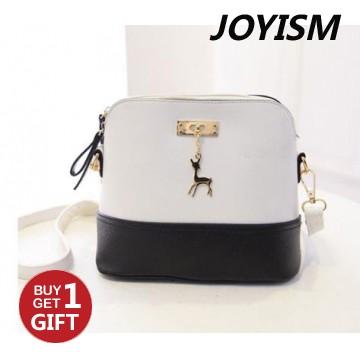 Joyism Handbags New Pattern Lovely Deer Shell Bag black and white f