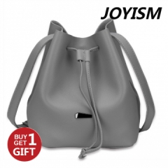 Joyism Handbags  Strap Dual Purposes Shoulder Crossbody Bucket Bag gray f
