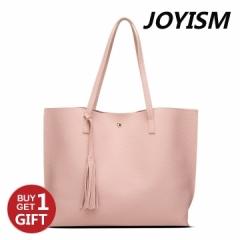 Joyism Handbag Popular Solid Color Fashion Tote Bag,Ladies Shoulder Bag baby pink f