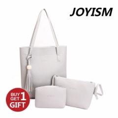 Joyism Handbags 3 Colors Classic Fashion Women Shoulder Handbag Vintga Bags Gray f