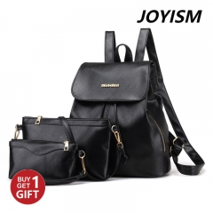 JoyismHandbags New Fashion Women Handbag Tote Portable Backpack black f