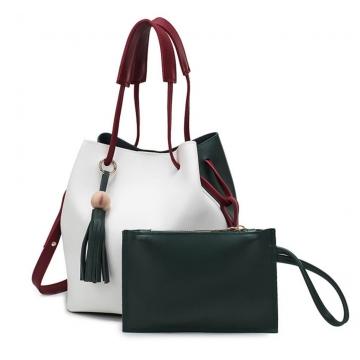 Joyism Handbag 2PCS Bucket bag Design Women Shoulder Bags Green f