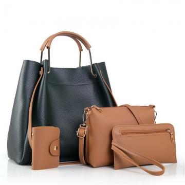 Joyism Valentines Gift For Handbags 4PCS Classic Fashion Women Luxury Handbag Shoulder Bags Tote Green f