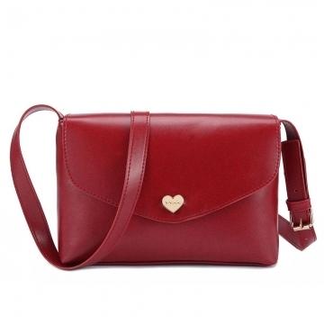 Joyism Loving Heart Women Handbags Single Shoulder Handbag red 26 * 3.5 * 17CM