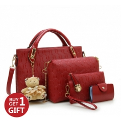 Joyism Handbags 6 colors Classic Fashion Women Luxury Handbag PU Leather Bags red f