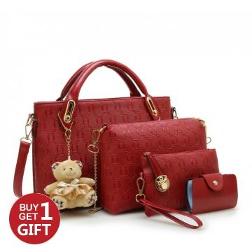 Joyism Handbags 6 colors Classic Fashion Women Luxury Handbag PU Leather Bags red f