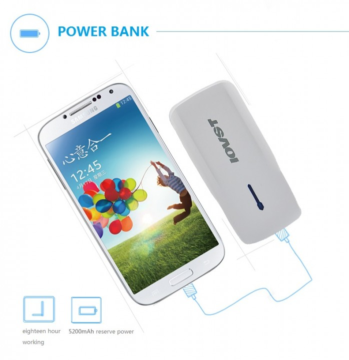 IOVST Multifunction POWER BANK 5200MAH white 5200
