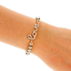 NEW Fashion Women Cross Love Infinity Crystal Style Bracelet Bangle 6# 23mm x 45mm