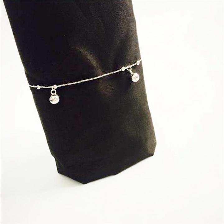 Women's Silver Bells Pendant Anklet Bracelet Charm Beach Foot Jewelry silver 20cm