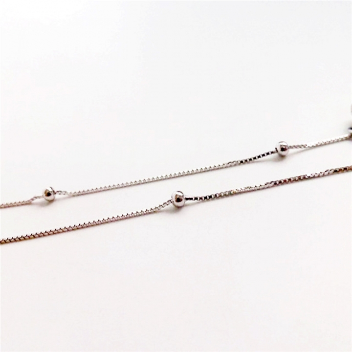 925 Sterling Silver Bell Anklet Women Fashion Jewelry 2*silver 20cm