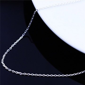 925 Sterling Silver Car Cross Chain for Jewelry Long Cross Extension Chain Necklace silver 40cm