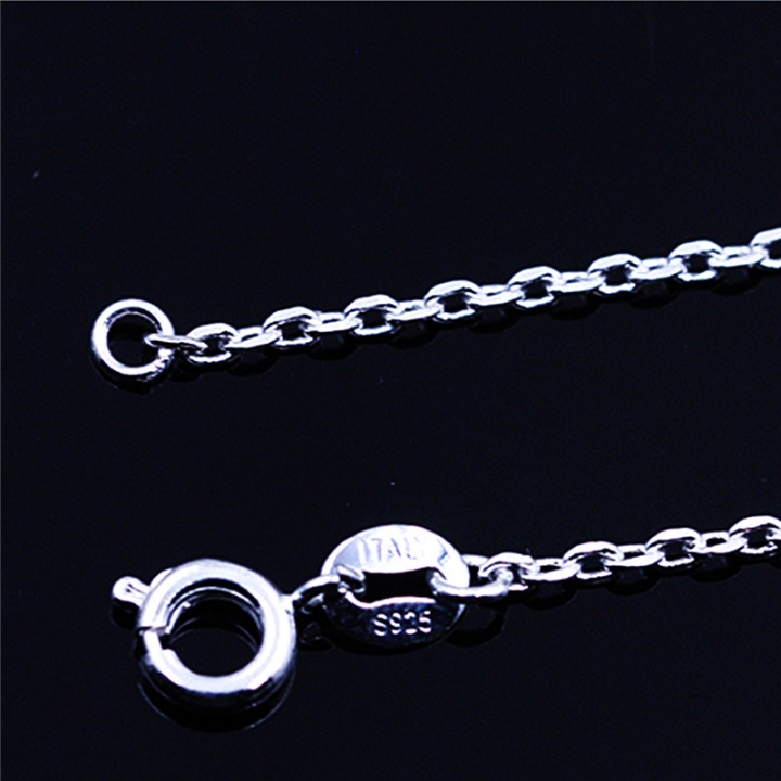 925 Sterling Silver Car Cross Chain for Jewelry Long Cross Extension Chain Necklace 2 * silver 40cm