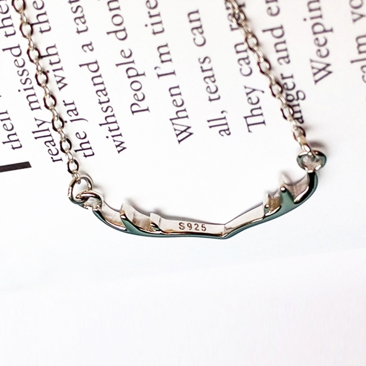 2017 Fashion 925 Sterling Silver Necklaces Elk Antlers Pendants & Necklaces Jewelry silver 50CM