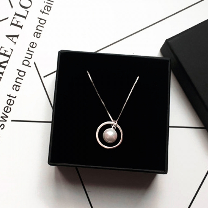 Woman Fashion 925 Sterling Silver Jewelry Female Natural Pearl Necklace Silver Necklaces & Pendants silver 40cm