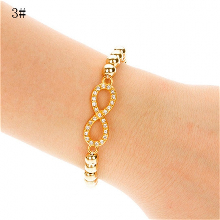 NEW Fashion Women Cross Love Infinity Crystal Style Bracelet Bangle 2*3# 23mm x 45mm