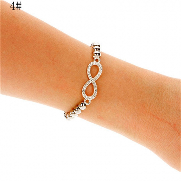 NEW Fashion Women Cross Love Infinity Crystal Style Bracelet Bangle 2*4# 23mm x 45mm