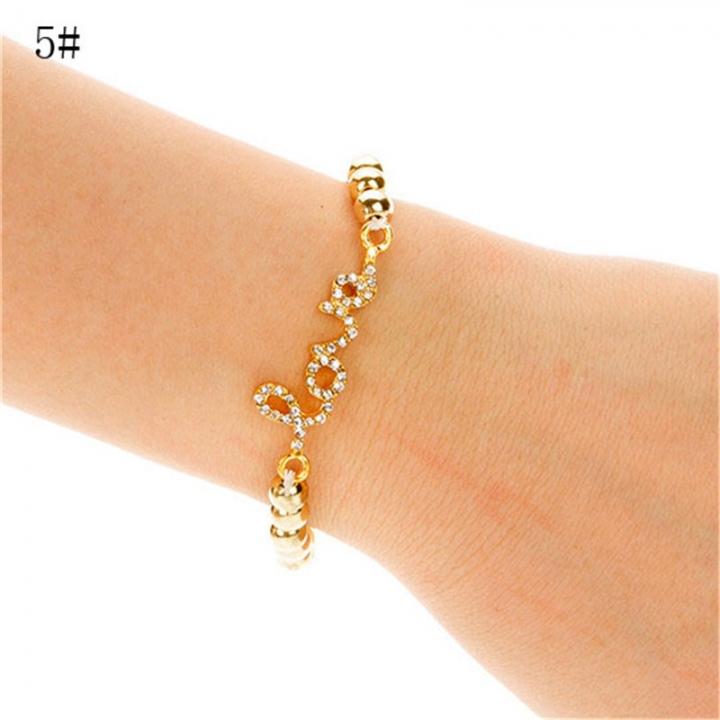 NEW Fashion Women Cross Love Infinity Crystal Style Bracelet Bangle 2*5# 23mm x 45mm
