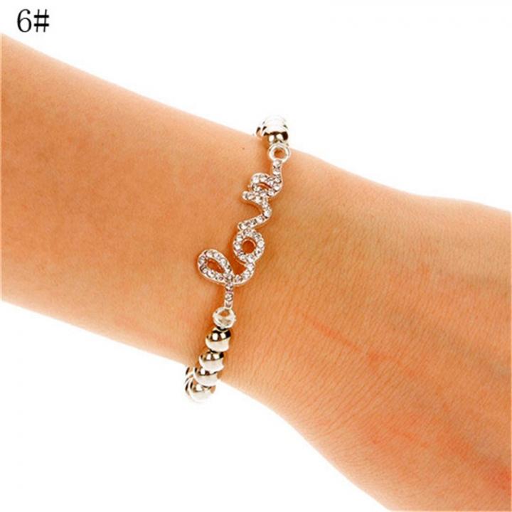 NEW Fashion Women Cross Love Infinity Crystal Style Bracelet Bangle 2*6# 23mm x 45mm