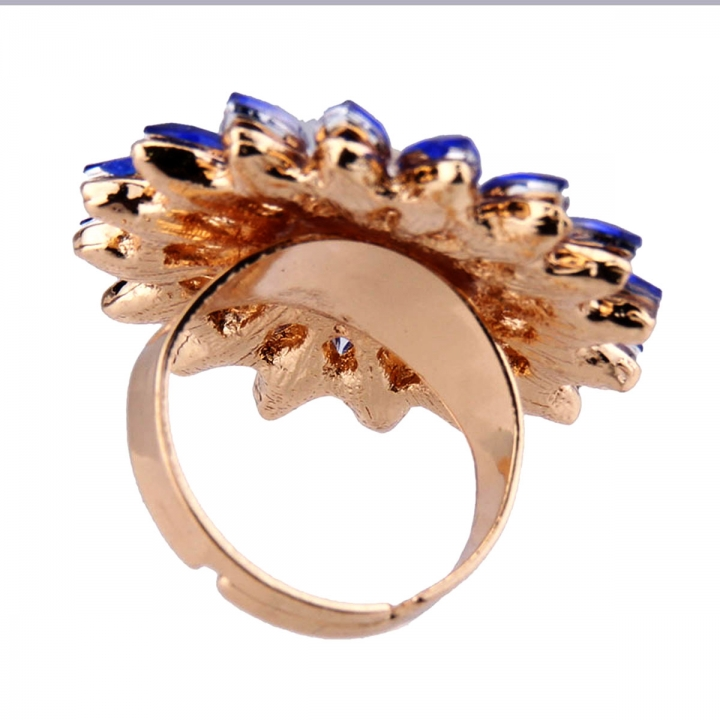 NEW Women Sun Flower Sky Sunflower Pearl Alloy Diamond Engagement Party Ring Pink 23mm x 45mm