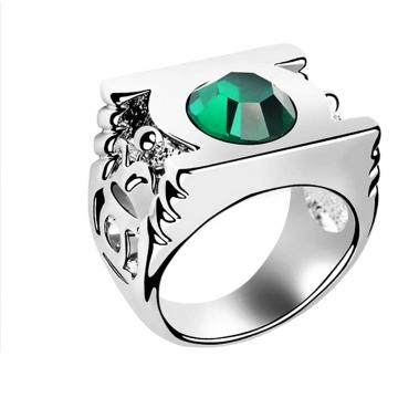 New Hot Green Lantern Light Up Power Prop Replica Ring Green 23mm x 45mm