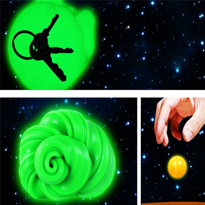 Hand Plasticine Luminous Slime Play Dough Magnetic Rubber Mud Clay Child green no size