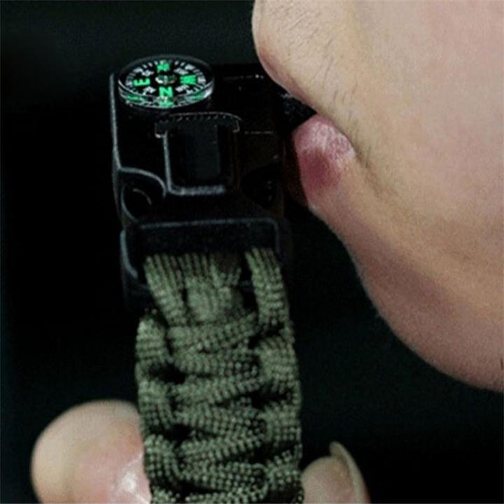 WOLF WARRIOR II Movies Wu Jing Hand Chain Outdoor Multi-purpose Hand Rope Bracelet ArmyGreen 23cm