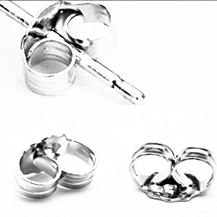 New Fashion Deluxe Butterfly Silver Earring Backs silver No Size