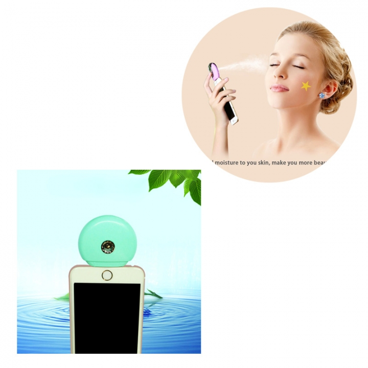 Cell Phone Beauty Mist Spray Diffuser Portable Mobile Phone Filling Water Meter for Android / iPhone iPhone blue no size