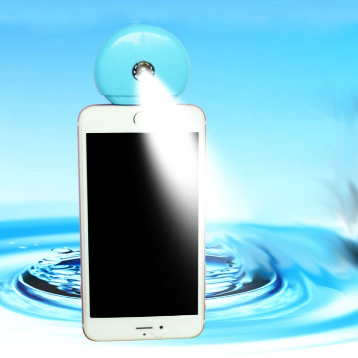 Cell Phone Beauty Mist Spray Diffuser Portable Mobile Phone Filling Water Meter for Android / iPhone Android  blue no size