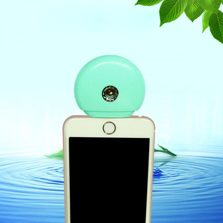 Cell Phone Beauty Mist Spray Diffuser Portable Mobile Phone Filling Water Meter for Android / iPhone Android  green no size