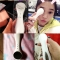 Portable Ultrasonic Iontophoresis Instrument Facial Massager Cleansing Beauty Device white