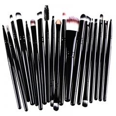20 Pieces Makeup Brush Set Professional Face Cosmetics Blending Brush Tool Black