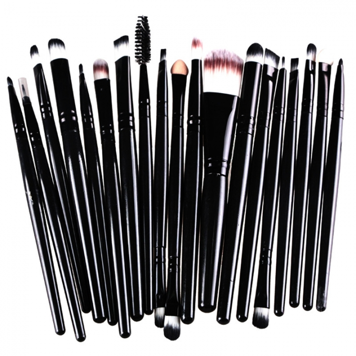 20 Pieces Makeup Brush Set Professional Face Cosmetics Blending Brush Tool Black