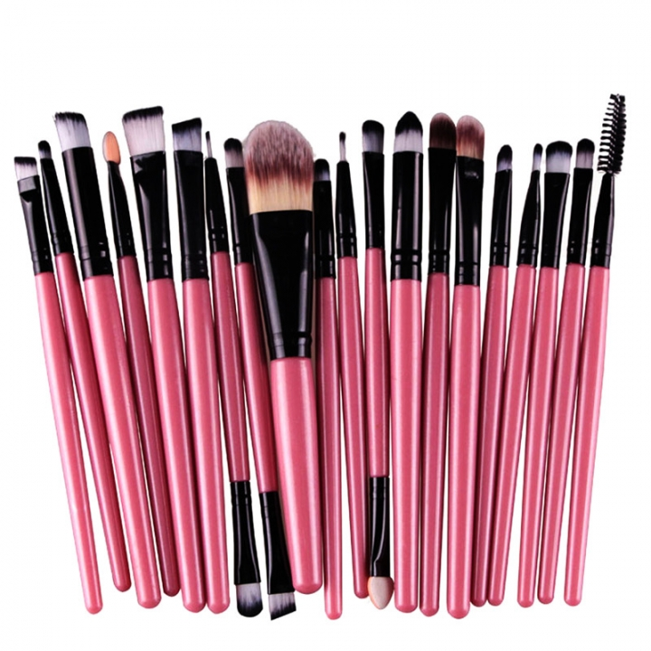 20 Pieces Makeup Brush Set Professional Face Cosmetics Blending Brush Tool Pink