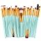 20 Pieces Makeup Brush Set Professional Face Cosmetics Blending Brush Tool Green