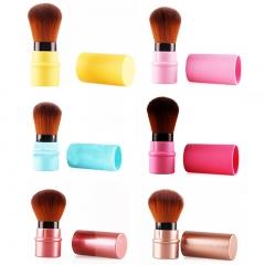 Soft Nylon Fiber Bristles Retractable Makeup Brush black