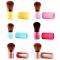 Soft Nylon Fiber Bristles Retractable Makeup Brush Red