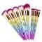 12PCS Make Up Foundation Eyebrow Eyeliner Blush Cosmetic Concealer Brushes multi-color
