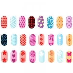 Beauty Nail Sticker Set Full Tip Decals DIY Tattoos Nail Art Decoration Random Color 99
