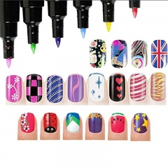 15PC Nail Art DIY Decoration Nail Polish Pen Set Nail Beauty Tools Paint Pens 1PCS random color 99