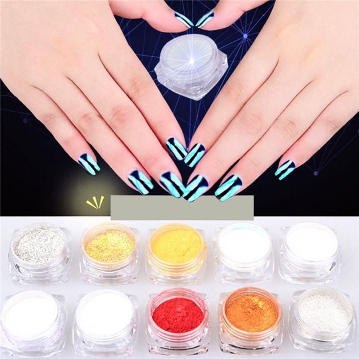 Glitter Magic Mirror Chrome Effect Dust Twinkle Nail Art Powder 1pcs random color 99