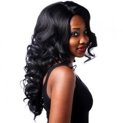 Long Wave Wigs Synthetic Lace Front Wig Three Color Wavy Wig for Women Black No Size