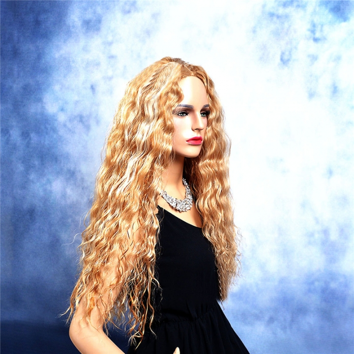 Fashion Women Long Loose Curly Synthetic Lace Front Wigs Hair Random Color no size