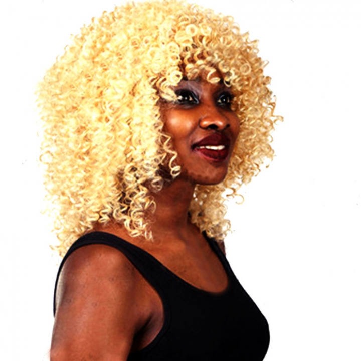 Brazilian Short Curly Lace Front Wigs with Baby Hair for Black Women gold no size