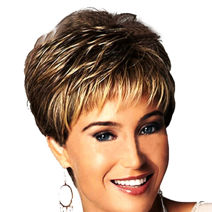 Hair Wigs Fashion Women's Sexy Full Bangs Wig Short Wig Straight Wig As Picture no size