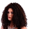 Natural Women's Black Small Roll Short Full Afro African American Wigs brown no size