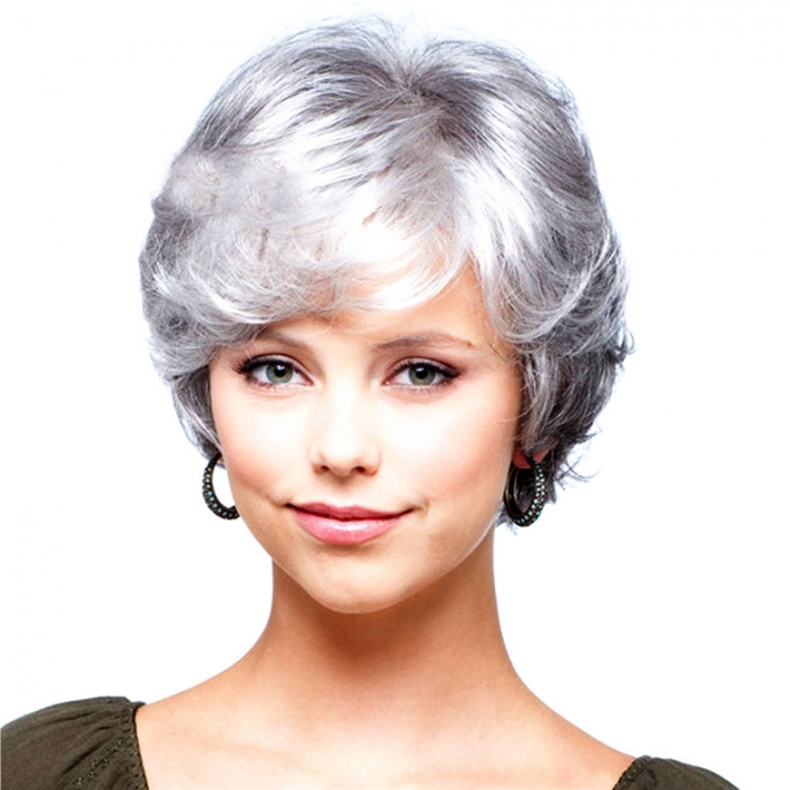 Charming Wigs New Fashion Women Party Short Sexy Full Hair Wig silver no size