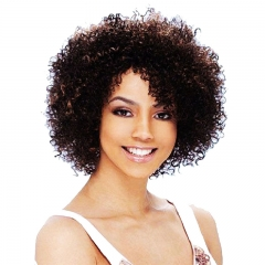Bouncy Synthetic Wig for Black Women Short Afro Small Curly Hair Piece as picture no size