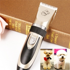 Electric Pet Dog Cat Hair Cordless Clipper/Trimmer/Shaver Kit with low-noise Black Golg 27x20x6