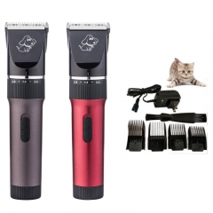 Pet Electric Clippers Dog Shaver Shaving Device Hairdresser Dog Shaver Red 24X23X7